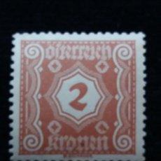 Sellos: AUSTRIA, OSTERREICH, 2 KRONEN, AÑO 1923. NUEVO. Lote 165380198