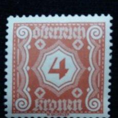 Sellos: AUSTRIA, OSTERREICH, 4 KRONEN, AÑO 1923. NUEVO. Lote 165380406