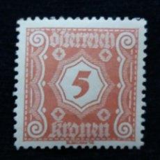 Sellos: AUSTRIA, OSTERREICH, 5 KRONEN, AÑO 1923. NUEVO. Lote 165380502