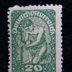 Sellos: AUSTRIA, OSTERREICH, 20 HELLER, AÑO 1919. NUEVO. Lote 165381502