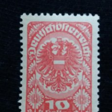 Sellos: AUSTRIA, OSTERREICH, 10 HELLER, AÑO 1920. NUEVO. Lote 165381854