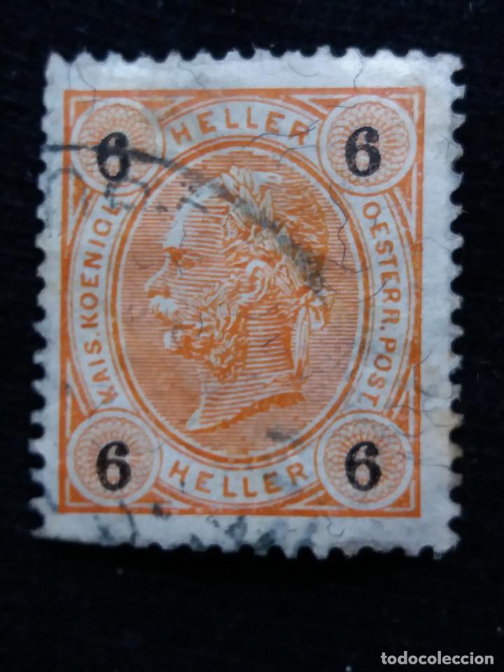 AUSTRIA, OSTERREICH, 6 HELLER EMP, FRANCISCO JOSE, AÑO 1867. (Sellos - Extranjero - Europa - Austria)