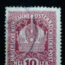Sellos: AUSTRIA, OSTERREICH, 10 HELLER, PORTO, AÑO 1916. .. Lote 165384922