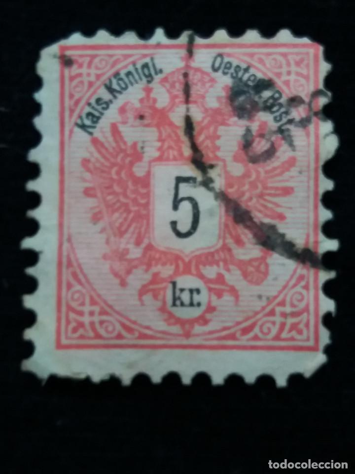 AUSTRIA, OSTERREICH, 5 KR, KAIS KLONIGL, AÑO 1867. (Sellos - Extranjero - Europa - Austria)
