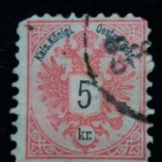 Sellos: AUSTRIA, OSTERREICH, 5 KR, KAIS KLONIGL, AÑO 1867. . Lote 165389214