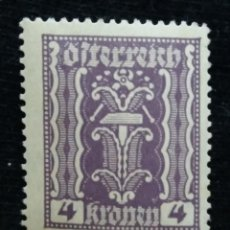 Sellos: AUSTRIA, OSTERREICH, 4 KRONEN, AÑO 1922. NUEVO. Lote 165522910