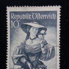 Sellos: AUSTRIA, OSTERREICH, 10 S, TRAJES REGIONALES, AÑO 1948. NUEVO. Lote 165524858
