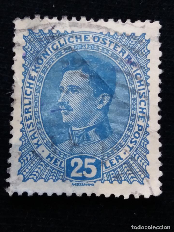 AUSTRIA, OSTERREICH, 25 HELLER KAISER KARL, AÑO 1887-1922. SIN USAR. (Sellos - Extranjero - Europa - Austria)