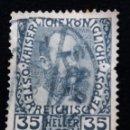 Sellos: AUSTRIA, OSTERREICH, 35 HELLER, FRANCISCO JOSE, AÑO 1908. Lote 165525922