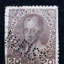 Sellos: AUSTRIA, OSTERREICH, 20 HELLEN, FRANCISCO JOSE, AÑO 1913. Lote 165526086