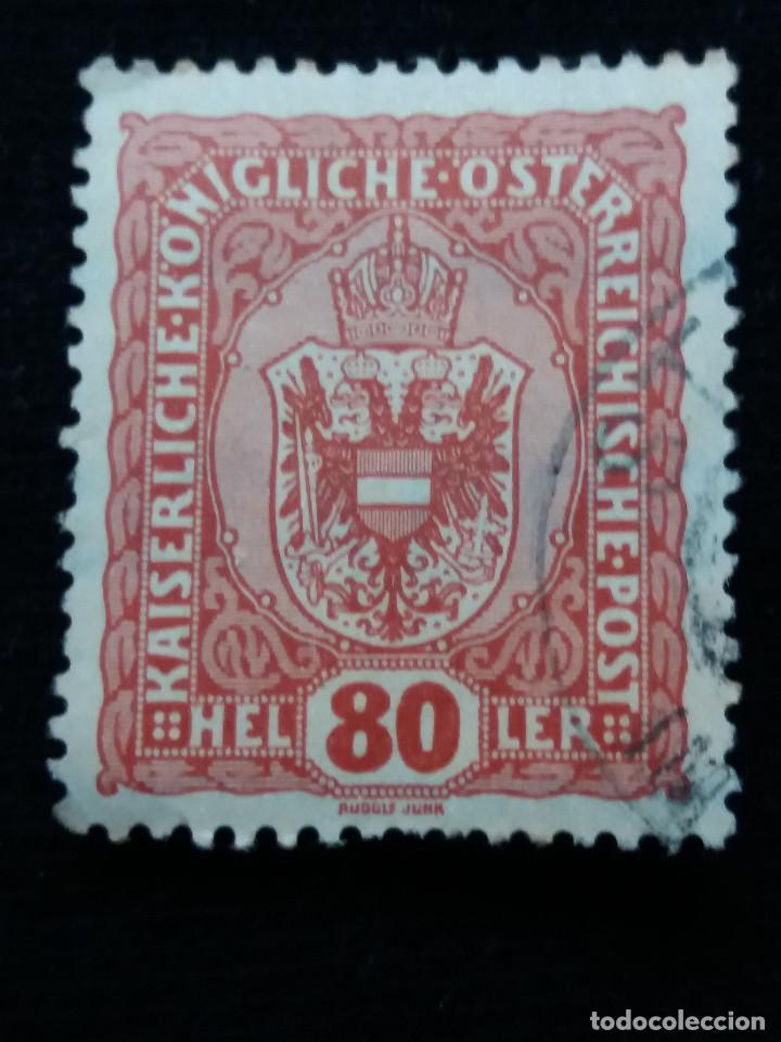AUSTRIA, OSTERREICH, 80 HELLER, AÑO 1916 (Sellos - Extranjero - Europa - Austria)