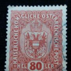 Sellos: AUSTRIA, OSTERREICH, 80 HELLER, AÑO 1916. Lote 165526658