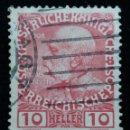 Sellos: AUSTRIA, OSTERREICH, 10 HELLER, EMPER, FRANCISCO JOSE AÑO 1908. Lote 165527010