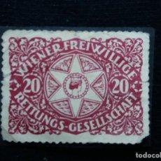 Sellos: AUSTRIA ALEMAN, 20 WINER FREIWILLIGE AÑO 1900. Lote 165528030