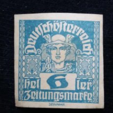 Sellos: AUSTRIA ALEMAN, DEUTSCH OSTERREICH, 6 HELLER, AÑO 1919. NUEVO.. Lote 165530790