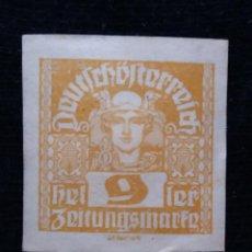 Sellos: AUSTRIA ALEMAN, DEUTSCH OSTERREICH, 9 HELLER, AÑO 1919. NUEVO.. Lote 165530938