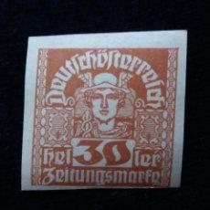 Sellos: AUSTRIA ALEMAN, DEUTSCH OSTERREICH, 30 HELLER, AÑO 1919. NUEVO.. Lote 165531522