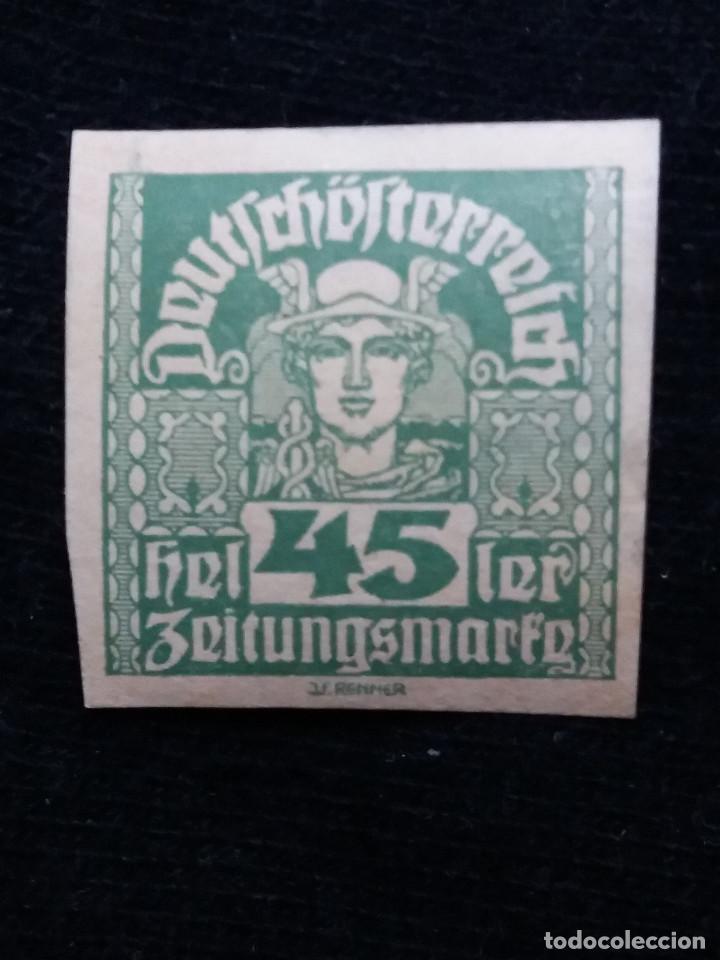 AUSTRIA ALEMAN, DEUTSCH OSTERREICH, 45 HELLER, AÑO 1919. NUEVO. (Sellos - Extranjero - Europa - Austria)