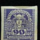 Sellos: AUSTRIA ALEMAN, DEUTSCH OSTERREICH, 90 HELLER, AÑO 1919. NUEVO.. Lote 165531758