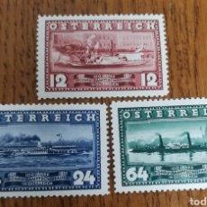 Sellos: AUSTRIA: N°496/98 MH, AÑO 1937. Lote 165641333