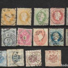 Sellos: AUSTRIA. CONJUNTO DE 16 SELLOS CLÁSICOS. Lote 165655866