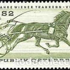 Sellos: AUSTRIA 1973 - CARRERAS DE TROTE - CABALLOS - YVERT 1255**. Lote 165766450