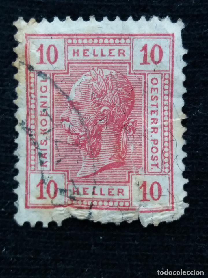 AUSTRIA, OSTERREICH, 10 HELLER, EMPER. FRANCICO JOSE, AÑO 1867. (Sellos - Extranjero - Europa - Austria)