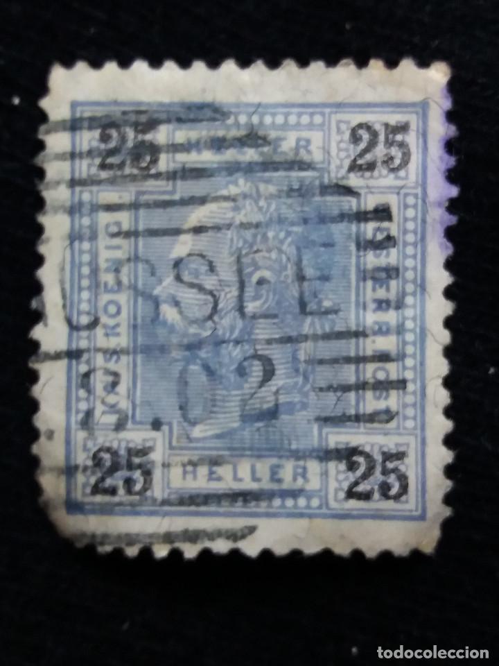 AUSTRIA, OSTERREICH, 25 HELLER, EMPER. FRANCICO JOSE, AÑO 1867. (Sellos - Extranjero - Europa - Austria)