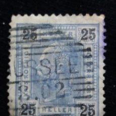 Sellos: AUSTRIA, OSTERREICH, 25 HELLER, EMPER. FRANCICO JOSE, AÑO 1867.. Lote 165779102