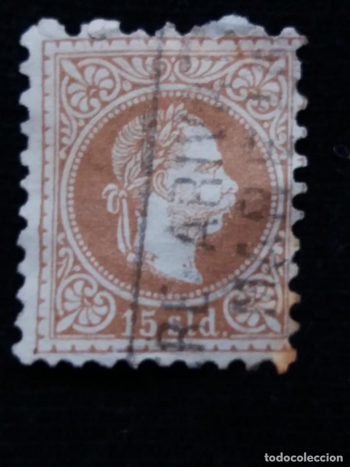 AUSTRIA, OSTERREICH, 15 SLD, EMPERADOR, AÑO 1867. (Sellos - Extranjero - Europa - Austria)