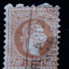 Sellos: AUSTRIA, OSTERREICH, 15 SLD, EMPERADOR, AÑO 1867. . Lote 165783014