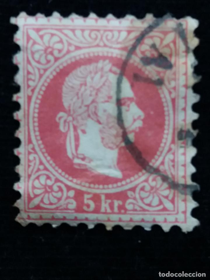 AUSTRIA, OSTERREICH, 5 KR, EMPERADOR, AÑO 1867. (Sellos - Extranjero - Europa - Austria)