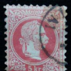 Sellos: AUSTRIA, OSTERREICH, 5 KR, EMPERADOR, AÑO 1867.. Lote 165783190