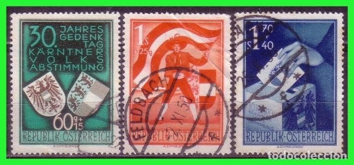 AUSTRIA 1950 IVERT Nº 988 A 990 (O) SERIE COMPLETA (Sellos - Extranjero - Europa - Austria)