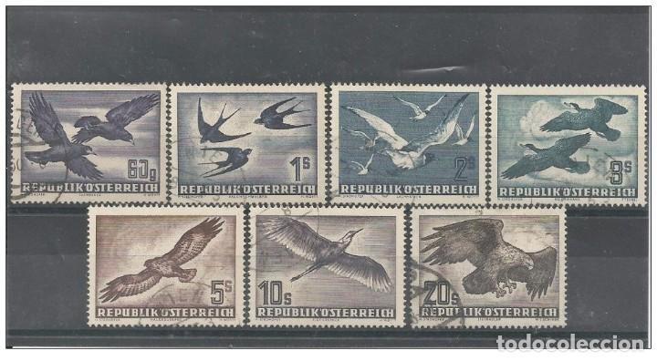 Sellos: Austria 1950-53 Airmail - Birds Yvert Aeriens 54-60 complete set cancelled very fine - Foto 1 - 167978072