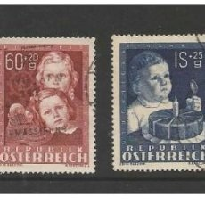 Sellos: AUSTRIA 1949 - MICHEL 929/32 - YVERT 765/68 CHILD STAMP SET CANCELLED VERY FINE. Lote 168302348