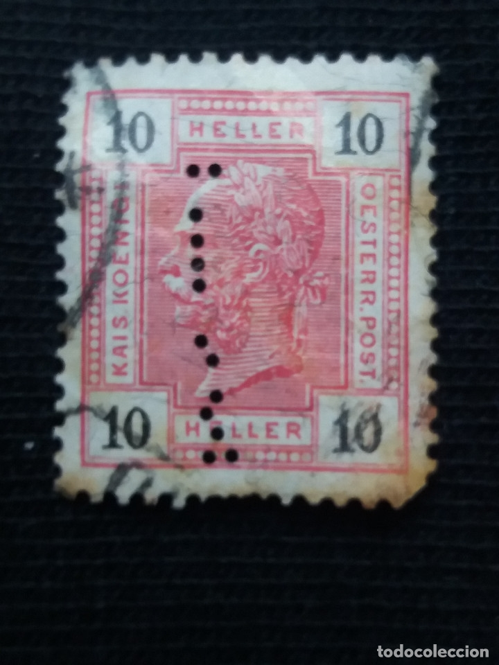 SELLO, AUSTRIA OESTERREICH, 10 HELLER, AÑO 1896 (Sellos - Extranjero - Europa - Austria)