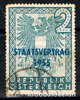 AUSTRIA 1033, TRATADO DE 1955, USADO (Sellos - Extranjero - Europa - Austria)