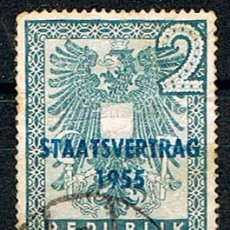 Sellos: AUSTRIA 1033, TRATADO DE 1955, USADO. Lote 174498500