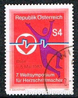 AUSTRIA 1775, 7º CONGRESO INTERNACIONAL SOBRE MARCAPASO, USADO, MEDICINA (Sellos - Extranjero - Europa - Austria)