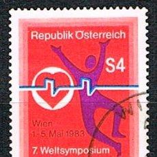 Sellos: AUSTRIA 1775, 7º CONGRESO INTERNACIONAL SOBRE MARCAPASO, USADO, MEDICINA. Lote 174498689