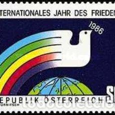 Sellos: AUSTRIA 1986 - AÑO DE LA PAZ - YVERT Nº 1665**. Lote 175705727