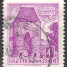 Sellos: AUSTRIA - UN SELLO - IVERT:#AT-873.AB - ***E D I F I C I O S*** - AÑO 1960 - USADO. Lote 175872330