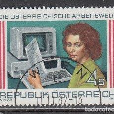 Sellos: AUSTRIA 1987 - EL MUNDO DEL TRABAJO EN AUSTRIA - YVERT Nº 1731** USADO. Lote 221864250