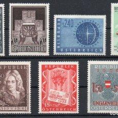 Sellos: AUSTRIA AÑO 1956 YV 857/63*** COMPLETO NUEVO. Lote 176892973