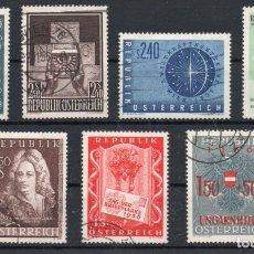 Sellos: AUSTRIA AÑO 1956 YV 857/63ºº COMPLETO USADO. Lote 176893118