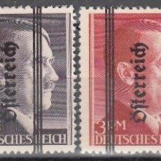 Sellos: AUSTRIA, 1945 YVERT Nº 572, 573, 574, 575, /*/, ADOLF HITLER. Lote 177063779