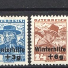 Sellos: AUSTRIA, 1935 YVERT Nº 467 / 470 /*/ FOLKLORE / PROFESIONES. Lote 178954538
