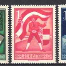 Sellos: AUSTRIA,1949 YVERT Nº 765 / 768 /**/ ANIVERSARIO DE ELECCIONES DE CARINTIA, SIN FIJASELLOS. Lote 178956681