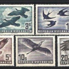 Sellos: AUSTRIA, AEREO 1950-53 YVERT Nº 54 / 60 /*/, AVES. . Lote 178968630